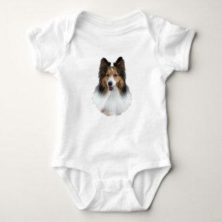 Body Para Bebé Retrato de Sheltie