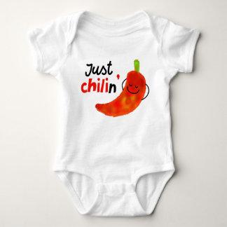 Body Para Bebé Retruécano positivo de la pimienta de chile -