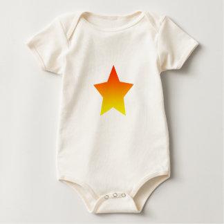 Body Para Bebé Rojo/estrella anaranjada