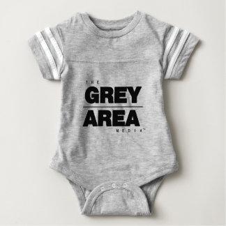 Body Para Bebé Ropa blanca negra del área gris
