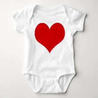 Body Para Bebé ropa del juego del bebé del corazón