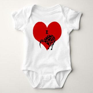 Body Para Bebé ropa del juego del bebé del kiwi del corazón i