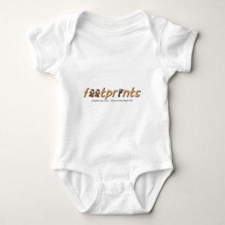 Body Para Bebé Ropa del logotipo de las huellas