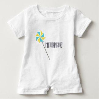 Body Para Bebé Ropa personalizada del molinillo de viento