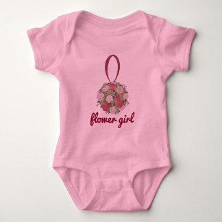 Body Para Bebé Rosa de la dama de honor del florista subió