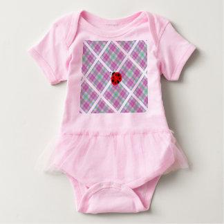 Body Para Bebé Rosa y púrpura con señora roja Bug
