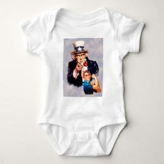 Body Para Bebé Rosie el diseño del remachador y del tío Sam