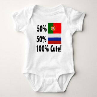 Body Para Bebé Ruso del portugués el 50% del 50% el 100% lindo