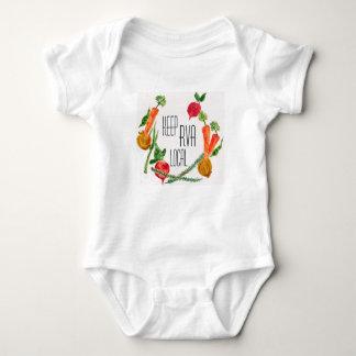 Body Para Bebé RVA van diseño fresco del bebé de la granja local