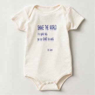Body Para Bebé SACUDA el mundo - de una manera apacible