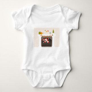 Body Para Bebé santa negro pegado en chimenea