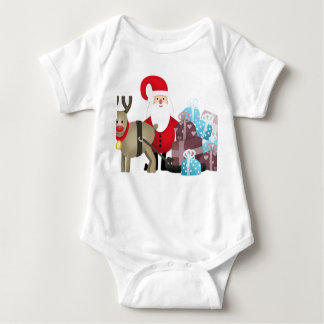 Body Para Bebé Santa y su reno con los regalos