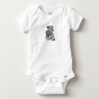 Body Para Bebé Schnauzer miniatura escaso del bebé