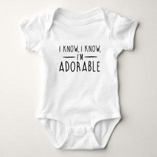 Body Para Bebé Sé que soy adorable