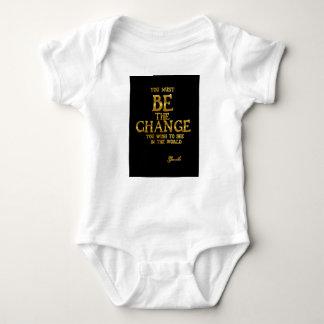 Body Para Bebé Sea el cambio - cita inspirada de la acción de