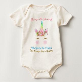Body Para Bebé Sea siempre un unicornio