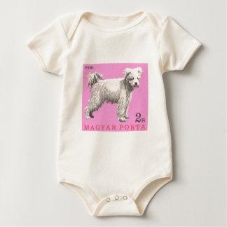 Body Para Bebé Sello 1967 del perro de Hungría Pumi