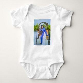 Body Para Bebé Señora en azul