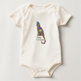 Body Para Bebé Señora futura del gato - mono orgánico del bebé