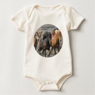 Body Para Bebé Señora Horse Gossip: ¿Son los buenos chico tomados