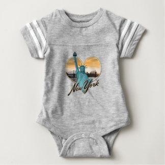 Body Para Bebé Señora Liberty del recuerdo del horizonte de NYC