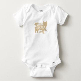 Body Para Bebé señora loca de la chihuahua