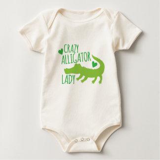 Body Para Bebé señora loca del cocodrilo