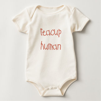 Body Para Bebé Ser humano de la taza de té (rojo)