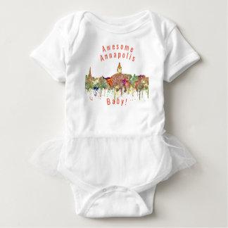 Body Para Bebé SG del horizonte de Annapolis Maryland - Faded