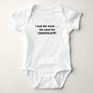 Body Para Bebé Siento la necesidad del chocolate