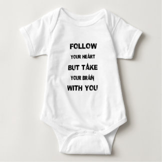 Body Para Bebé siga su corazón toman su cerebro con usted