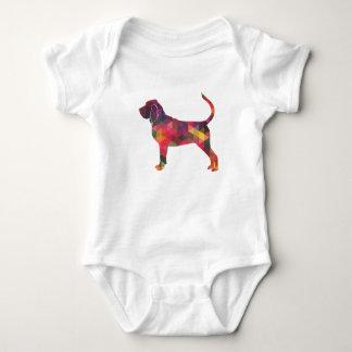 Body Para Bebé Silueta colorida del modelo de Geo del sabueso