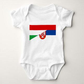 Body Para Bebé símbolo del país de la bandera de Hungría Serbia
