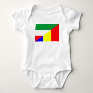 Body Para Bebé símbolo del país de la bandera de Rumania Hungría