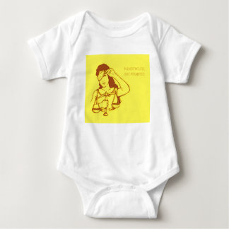 Body Para Bebé Sin embargo, ella persistió (amarillo) (el bebé)