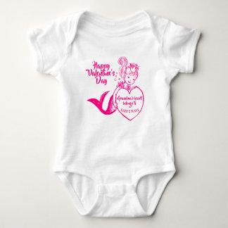 Body Para Bebé Sirena fucsia con el corazón