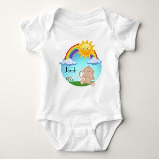 Body Para Bebé Sol lindo del arco iris del mono del bebé