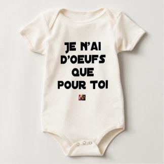Body Para Bebé Sólo TENGO HUEVOS PARA TI - Juegos de palabras -