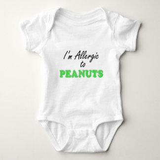 Body Para Bebé Soy alérgico a los CACAHUETES