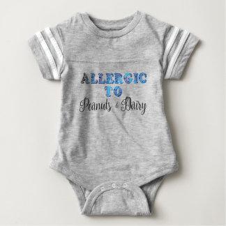 Body Para Bebé Soy alérgico a los CACAHUETES y a la LECHERÍA