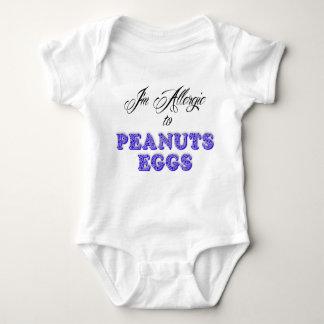 Body Para Bebé Soy alérgico a los CACAHUETES y a los HUEVOS