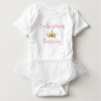 Body Para Bebé Soy el onsie del tutú de la princesa