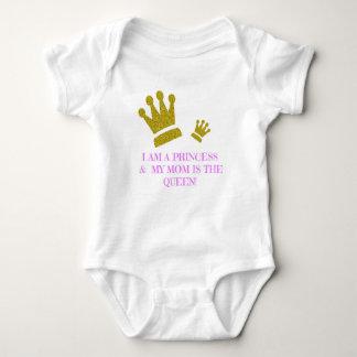 Body Para Bebé Soy princesa y mi mamá es el mono de la reina