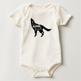 Body Para Bebé Soy un chica femenino alfa del lobo