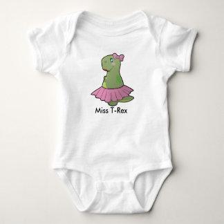 Body Para Bebé Srta. T-Rex Bodysuit del dinosaurio de la niña
