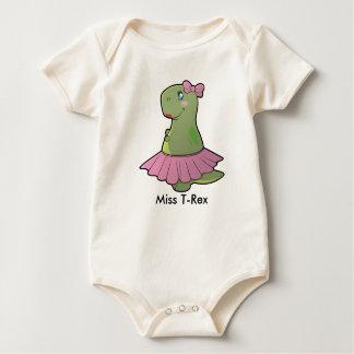 Body Para Bebé Srta. T-Rex Organic Bodysuit del dinosaurio de la