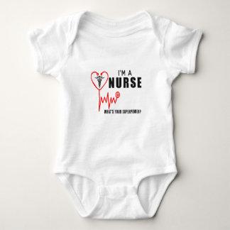 Body Para Bebé Su enfermera de la superpotencia
