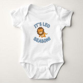 Body Para Bebé ¡Su estación de Leo! Mono del bebé (azul)