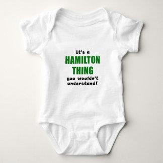 Body Para Bebé Su una cosa de Hamilton que usted no entendería