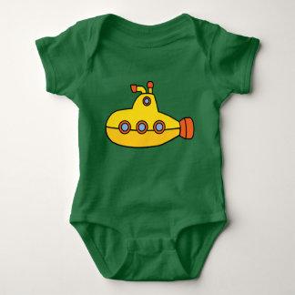 Body Para Bebé Submarino amarillo